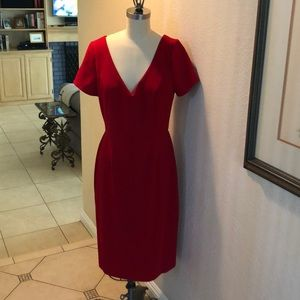 Charles Henry Red Cap Sleeve Dress Sz M